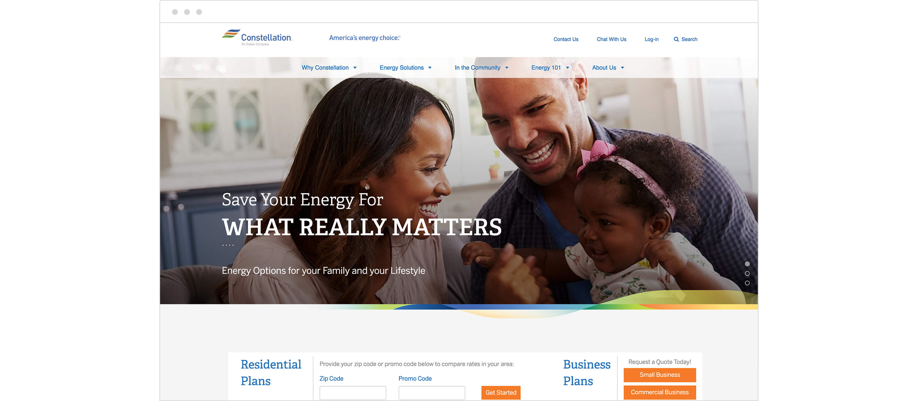 Constellation Energy UX Web Design