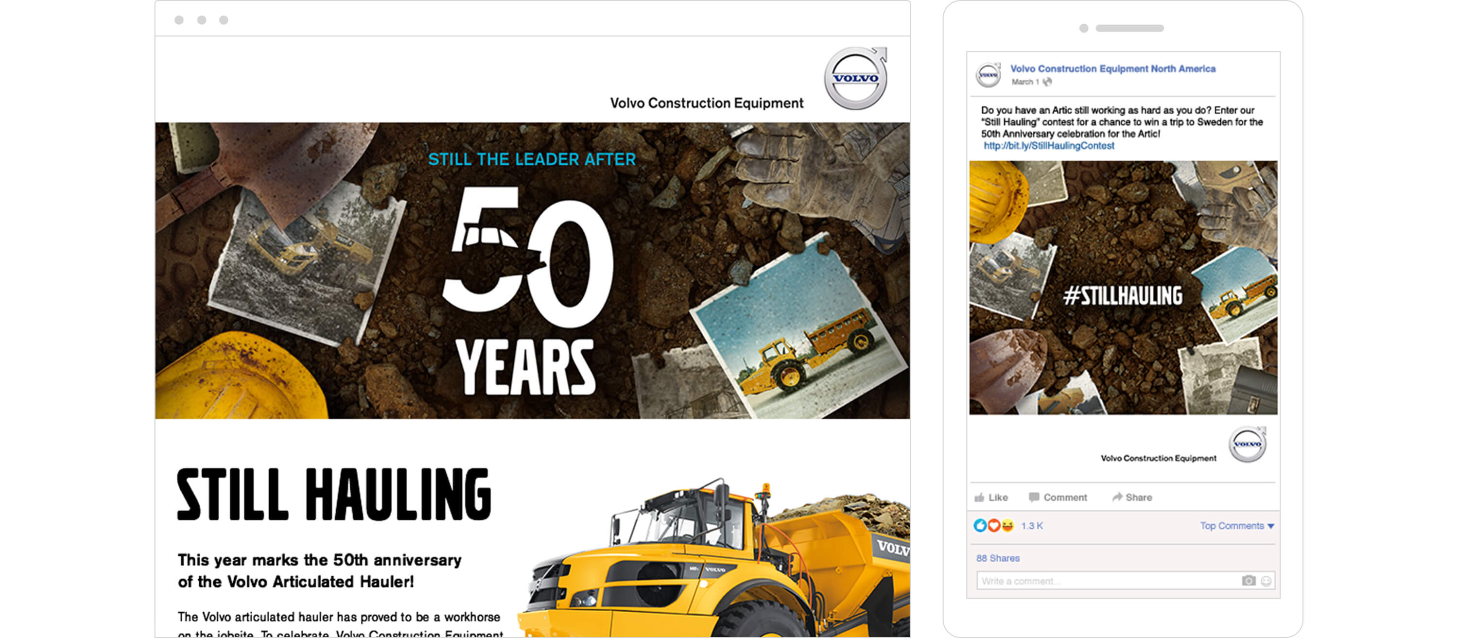 Volvo Construction Equipment Digital Campaigns