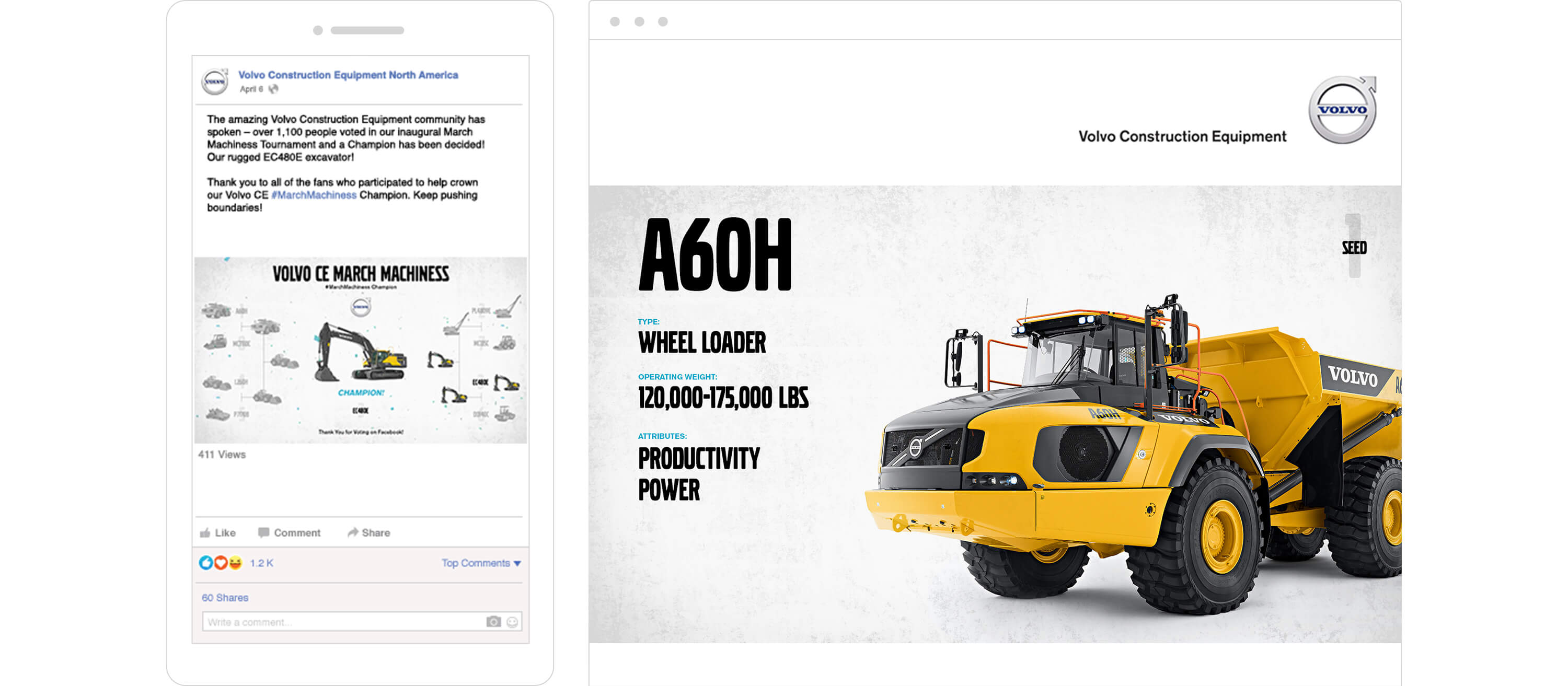 Volvo Construction Equipment Content Development